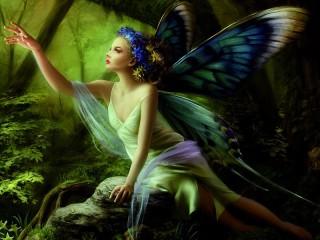 Собирать пазл Бабочка - фея онлайн