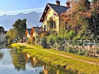 Собирать пазл Бад Гоизерн Австрия онлайн