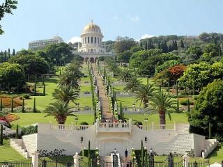 Собирать пазл Бахайские сады онлайн