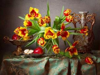 Собирать пазл Бахромчатые тюльпаны онлайн