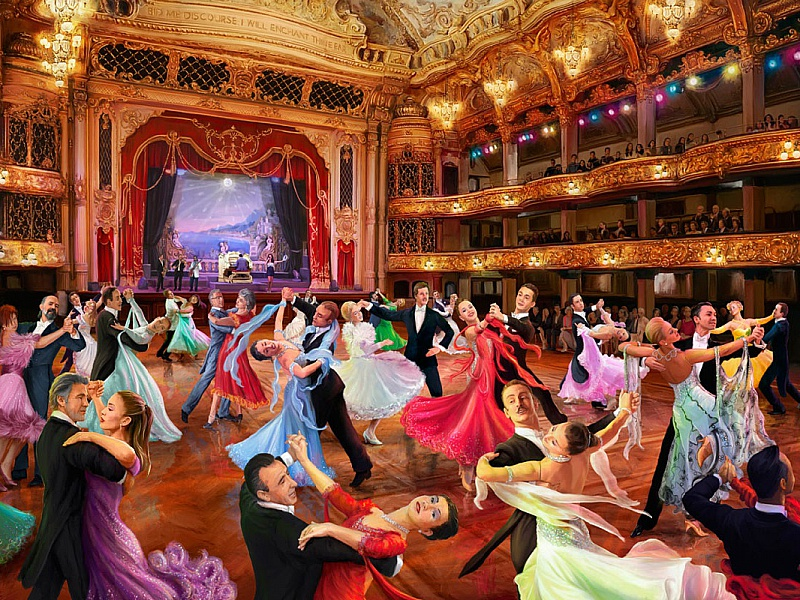 Пазл Собирать пазлы онлайн - Бальные танцы