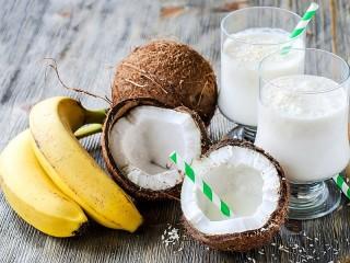 Собирать пазл Бананы и кокосы онлайн