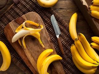 Собирать пазл Бананы и нож онлайн