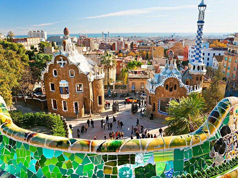 Пазл Собирать пазлы онлайн - Парк в Барселоне