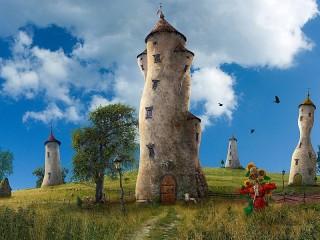 Собирать пазл Башни онлайн