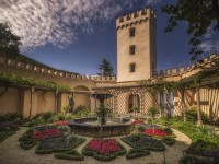 Собирать пазл Башня и фонтан онлайн