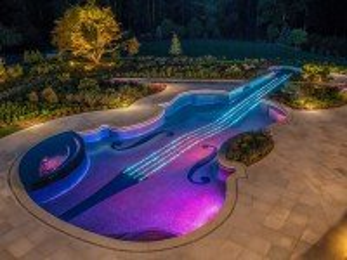 Собирать пазл Бассейн-скрипка онлайн