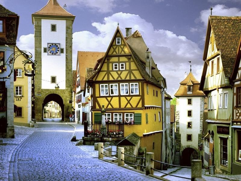 Пазл Собирать пазлы онлайн - Город в Баварии