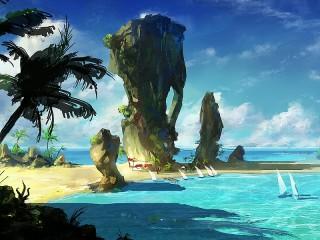 Собирать пазл Пляж онлайн