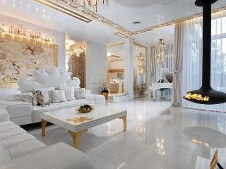 Собирать пазл Белая гостиная онлайн