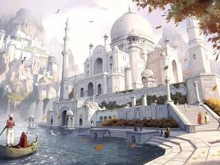 Собирать пазл Белый город онлайн