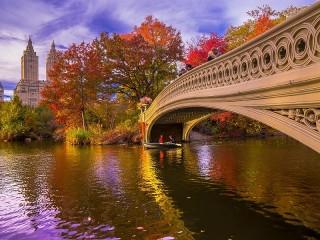 Собирать пазл Белый мост онлайн