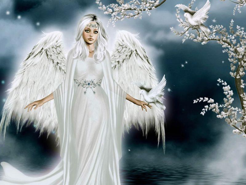 Пазл Собирать пазлы онлайн - Белый ангел