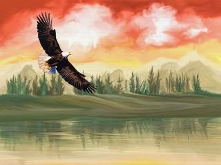 Собирать пазл Белоголовый орлан онлайн
