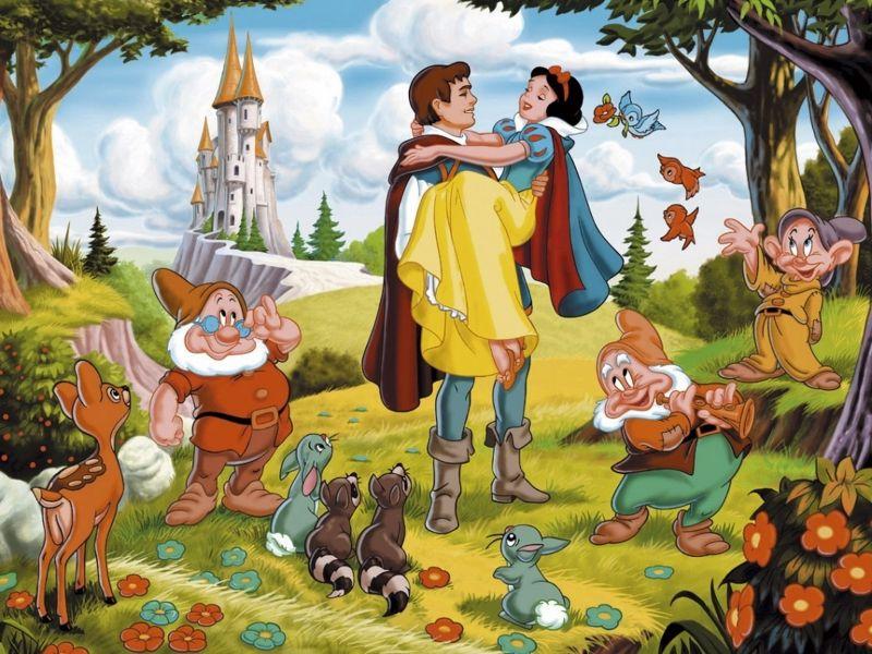 Пазл Собирать пазлы онлайн - Белоснежка и принц