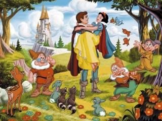 Собирать пазл Белоснежка и принц онлайн