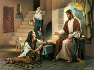 Собирать пазл Беседа с Иисусом онлайн