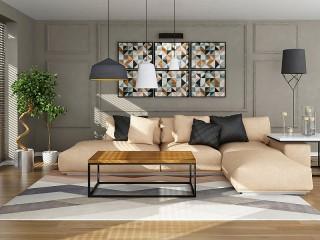 Собирать пазл Бежевый диван онлайн
