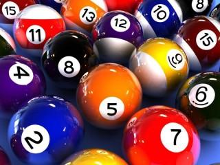 Собирать пазл Бильярдные шары онлайн