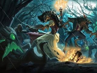 Собирать пазл Битва в лесу онлайн