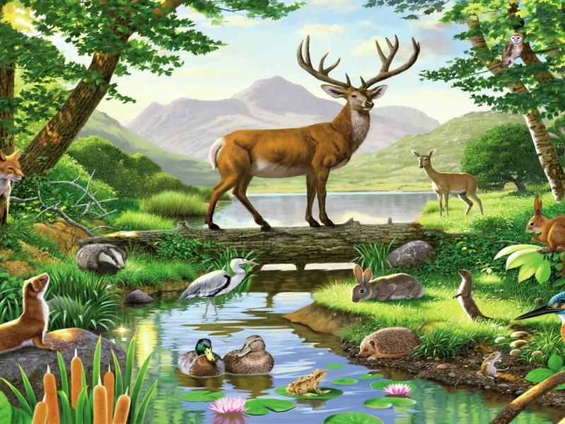 Пазл Собирать пазлы онлайн - Благородный олень