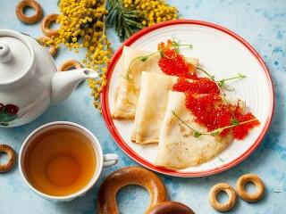 Собирать пазл Блинчики к чаю онлайн