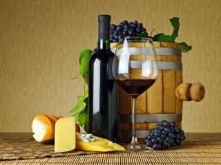 Собирать пазл бочонок с вином онлайн