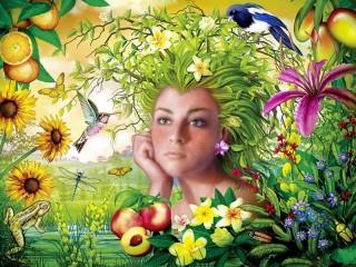 Собирать пазл Богиня лета онлайн