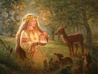 Собирать пазл Богиня плодородия онлайн