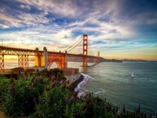 Собирать пазл Большой мост онлайн