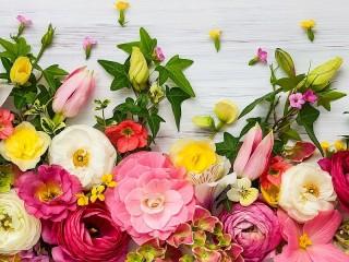 Собирать пазл Бордюр из цветов онлайн