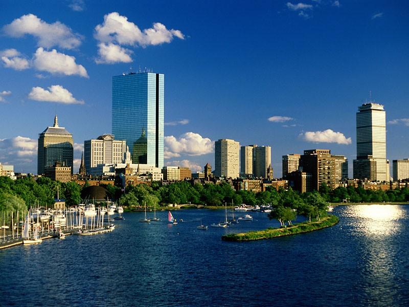 Пазл Собирать пазлы онлайн - Город  Бостон