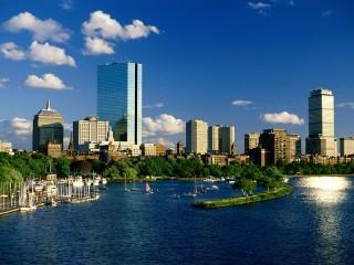 Собирать пазл Город  Бостон онлайн
