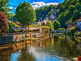 Собирать пазл Брантом Франция онлайн