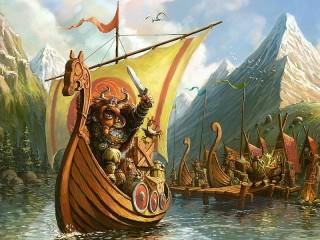 Собирать пазл Бравые викинги онлайн