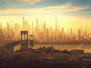 Собирать пазл Бруклинский мост онлайн