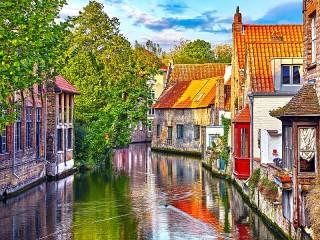 Собирать пазл Брюгге Бельгия онлайн