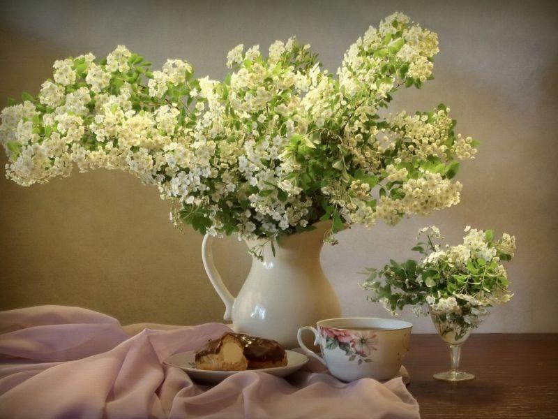 Пазл Собирать пазлы онлайн - Букет белых цветов