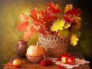Собирать пазл Букет из листьев онлайн