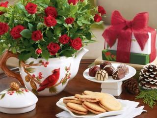Собирать пазл Букет красных роз онлайн
