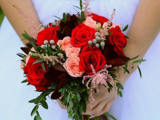 Собирать пазл Букет невесты онлайн