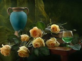 Собирать пазл Букет роз онлайн