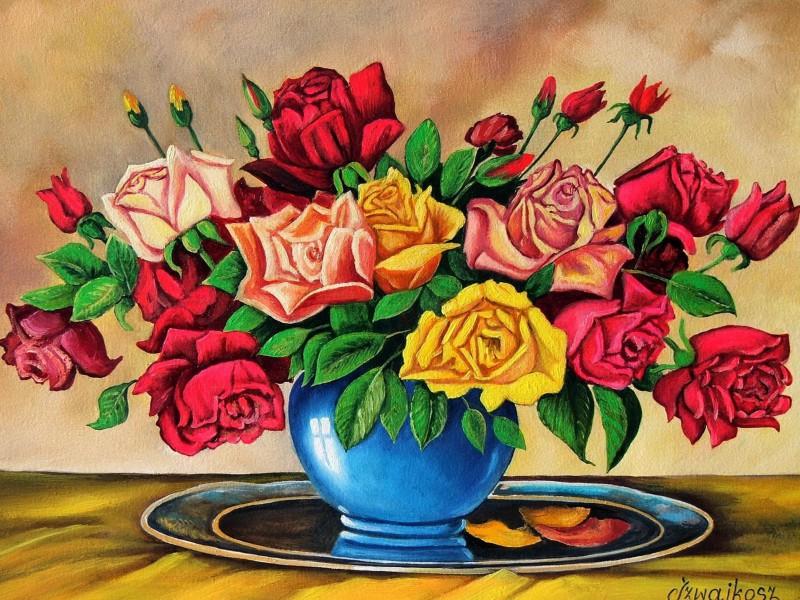 Пазл Собирать пазлы онлайн - Букет роз