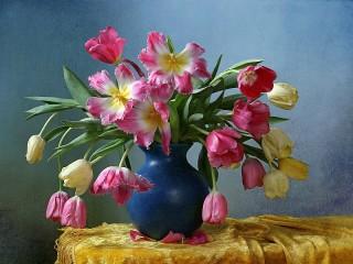 Собирать пазл Букет тюльпанов онлайн