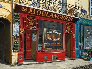 Собирать пазл Булочная в Париже онлайн