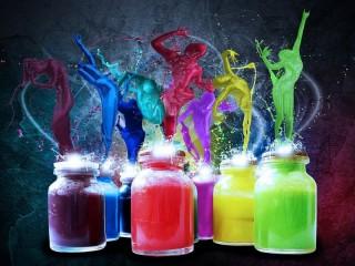 Собирать пазл Буйство красок онлайн