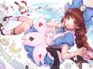 Собирать пазл Чаепитие Алисы онлайн