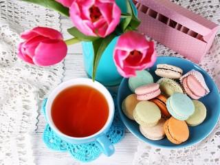 Собирать пазл Чай и печенье онлайн
