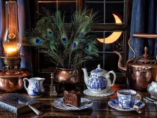 Собирать пазл Чай под луной онлайн