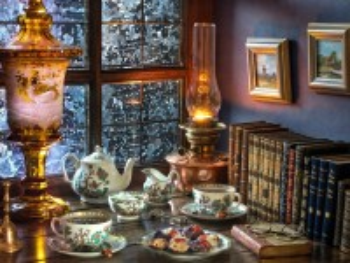 Собирать пазл Чай при лампе онлайн